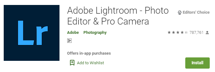Adobe Lightroom – Photo Editor & Pro Camera