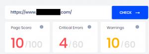 Page Score - SEOptimer tool