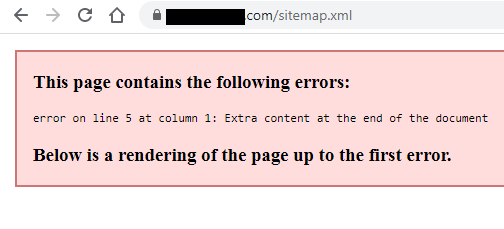XML sitemap - Manual Website Audit