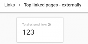 total no of backlinks - GSC tool